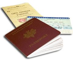 pièces d'identité françaises